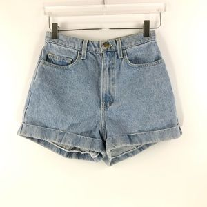 American Apparel • high waist jean shorts